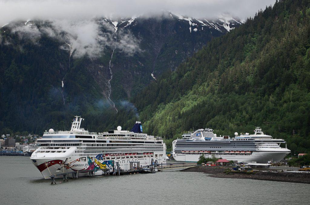 Norwegian Cruise dock in Juneau